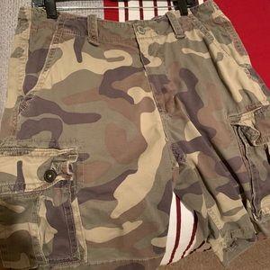 American Eagle Camo Cargo Shorts
